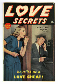 Love Secrets #2 Mile High pedigree (Quality, 1950) Condition: NM-. Photo cover. Overstreet 2006 NM- 9.2 value = $95. Fro...