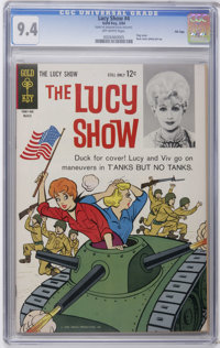 The Lucy Show #4 File Copy (Gold Key, 1964) CGC NM 9.4 Off-white pages. Flag cover. Photo back cover pin-up. Overstreet...