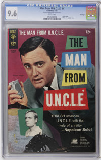 Man from U.N.C.L.E. #4 File Copy (Gold Key, 1966) CGC NM+ 9.6 White pages. Photo cover featuring Robert Vaughn and David...
