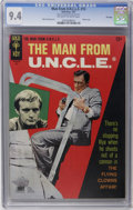 Silver Age (1956-1969):Adventure, Man from U.N.C.L.E. #13 File Copy (Gold Key, 1967) CGC NM 9.4 Off-white to white pages. Robert Vaughn photo cover. Mike Seko...