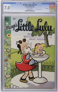 Marge's Little Lulu #11 File Copy (Dell, 1949) CGC FN/VF 7.0 Off-white pages. Tubby backup story. Overstreet 2006 FN 6.0...