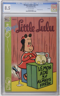 Marge's Little Lulu #14 File Copy (Dell, 1949) CGC VF+ 8.5 Off-white pages. Tubby backup story. Currently, tied for the...