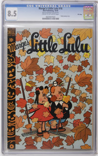 Marge's Little Lulu #16 File Copy (Dell, 1949) CGC VF+ 8.5 Cream to off-white pages. Currently ranks as the highest-grad...
