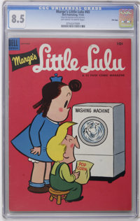 Marge's Little Lulu #65 File Copy (Dell, 1953) CGC VF+ 8.5 Off-white to white pages. Only CGC graded copy to date. Overs...