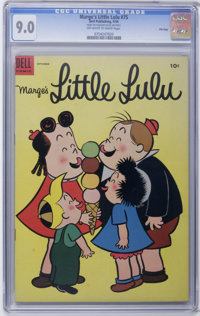 Marge's Little Lulu #75 File Copy (Dell, 1954) CGC VF/NM 9.0 Off-white to white pages. Overstreet 2006 VF/NM 9.0 value =...