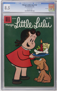 Marge's Little Lulu #126 File Copy (Dell, 1958) CGC VF+ 8.5 Off-white pages. Christmas cover. Overstreet 2006 VF 8.0 val...