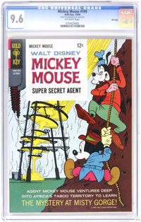 """Mickey Mouse #109 File Copy (Gold Key, 1966) CGC NM+ 9.6 Off-white pages. """"Super Secret Agent"""" story. Tied for..."""