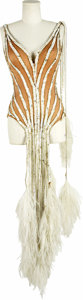 Movie/TV Memorabilia:Costumes, Bob Mackie Original Costume Screen-Worn by Mitzi Gaynor. A gorgeous example of Mackie in his element, this white sequined da... (Total: 1 Item)