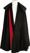 "Movie/TV Memorabilia:Costumes, Vincent Price's Cape. The word ""macabre"" and the name Vincent Priceare virtually interchangeable. The late actor appeared i... (Total:1 Item)"