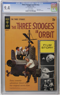 Movie Comics - Three Stooges in Orbit #nn File Copy (Gold Key, 1962) CGC NM 9.4 White pages. Photo cover. Photo pin-up b...