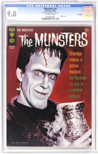 Munsters #4 File Copy (Gold Key, 1965) CGC VF/NM 9.0 Off-white pages. Photo cover. Overstreet 2006 VF/NM 9.0 value = $94...