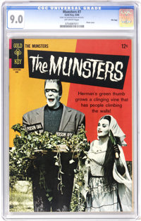Munsters #7 File Copy (Gold Key, 1966) CGC VF/NM 9.0 Off-white pages. Photo cover. Back cover pin-up. Overstreet 2006 VF...