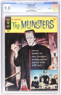 Munsters #8 File Copy (Gold Key, 1966) CGC VF/NM 9.0 Off-white to white pages. Photo cover. Back cover pin-up. Overstree...
