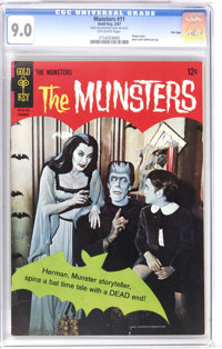 Munsters #11 File Copy (Gold Key, 1967) CGC VF/NM 9.0 Off-white pages. Photo cover. Back cover photo pin-up. Overstreet...