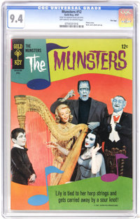 Munsters #12 File Copy (Gold Key, 1967) CGC NM 9.4 Off-white to white pages. Photo cover. Back cover photo pin-up. Overs...