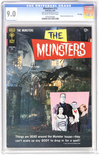 Munsters #13 File Copy (Gold Key, 1967) CGC VF/NM 9.0 Off-white to white pages. Photo cover. Back cover photo pin-up. Ov...