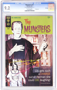 Munsters #14 File Copy (Gold Key, 1967) CGC NM- 9.2 Off-white pages. Photo cover. Overstreet 2006 NM- 9.2 value = $105...