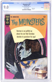 Munsters #16 File Copy (Gold Key, 1968) CGC VF/NM 9.0 Off-white pages. Photo cover. Last issue of the series. Overstreet...