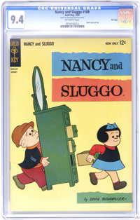 Nancy and Sluggo #189 File Copy (Gold Key, 1963) CGC NM 9.4 Off-white pages. Back cover pin-up. Overstreet 2006 NM- 9.2...