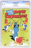 Golden Age (1938-1955):Cartoon Character, New Funnies #182 File Copy (Dell, 1952) CGC VF+ 8.5 Off-white pages. Woody Woodpecker appears. Origin and first appearance o...