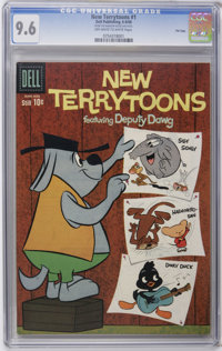 New Terrytoons #1 File Copy (Dell, 1960) CGC NM+ 9.6 Off-white to white pages. Holds the single highest CGC grade to dat...