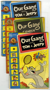 Our Gang Group (Dell, 1947-49) Condition: Average VG-. #37 (Carl Barks art), 50, 51, 52, and 55. Walt Kelly art in all...