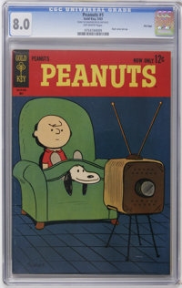 Peanuts #1 File Copy (Gold Key, 1963) CGC VF 8.0 Off-white pages. Back cover pin-up. Overstreet 2006 VF 8.0 value = $77...