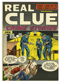 Real Clue Crime Stories V2#11 Mile High pedigree (Hillman Fall, 1948) Condition: NM+. Carmine Infantino cover. Overstree...