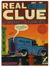 Real Clue Crime Stories V3#10 Mile High pedigree (Hillman Fall, 1948) Condition: NM. Great cover colors. Overstreet 2006...