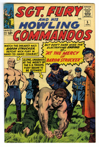 Sgt. Fury and His Howling Commandos #5 (Marvel, 1964) Condition: VF+. First appearance of Baron Strucker. Jack Kirby cov...