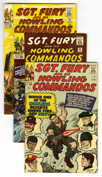 Sgt. Fury and His Howling Commandos Group (Marvel, 1964-65) Condition: Average VF+. Contains #12, 15, 16, 17, #18 (death...