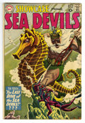 Silver Age (1956-1969):Adventure, Showcase #29 Sea Devils (DC, 1960) Condition: Qualified FN. Russ Heath grey tone cover and interior art. Two extra staples. ...