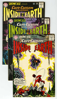 Showcase #48, 49, and 52 Cave Carson Group (DC, 1964) Condition: Average VF. Includes #48 (third tryout series for Cave...