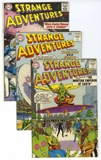 Strange Adventures #150-154 Group (DC, 1963) Condition: Average VF. Contains #150 (Atomic Knights appearance, grey tone...