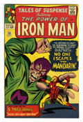 """Silver Age (1956-1969):Superhero, Tales of Suspense #55 (Marvel, 1964) Condition: FN/VF. """"All about Iron Man"""" feature included. Pepper Potts pin-up page. Watc..."""