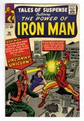 Silver Age (1956-1969):Superhero, Tales of Suspense #56 (Marvel, 1964) Condition: VF. Jack Kirby cover. Iron Man story with Don Heck art. First appearance of ...