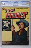 Golden Age (1938-1955):Western, Tim Holt #18 Mile High pedigree (Magazine Enterprises, 1950) CGC NM- 9.2 Off-white to white pages. Marvel fans might not kno...