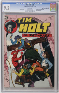 Tim Holt #20 Mile High pedigree (Magazine Enterprises, 1950) CGC NM- 9.2 White pages. Tim Holt became the mysterious Red...