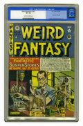 "Golden Age (1938-1955):Science Fiction, Weird Fantasy #13 (#1) (EC, 1950) CGC VF- 7.5 Cream to off-whitepages. EC's ""new trend in magazines"" began here, and comics..."