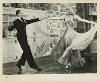"""""""Carefree"""" Fred Astaire and Ginger Rogers Signed Photo (undated). Glossy 10"""" x 8"""" photo of Fred Asta..."""