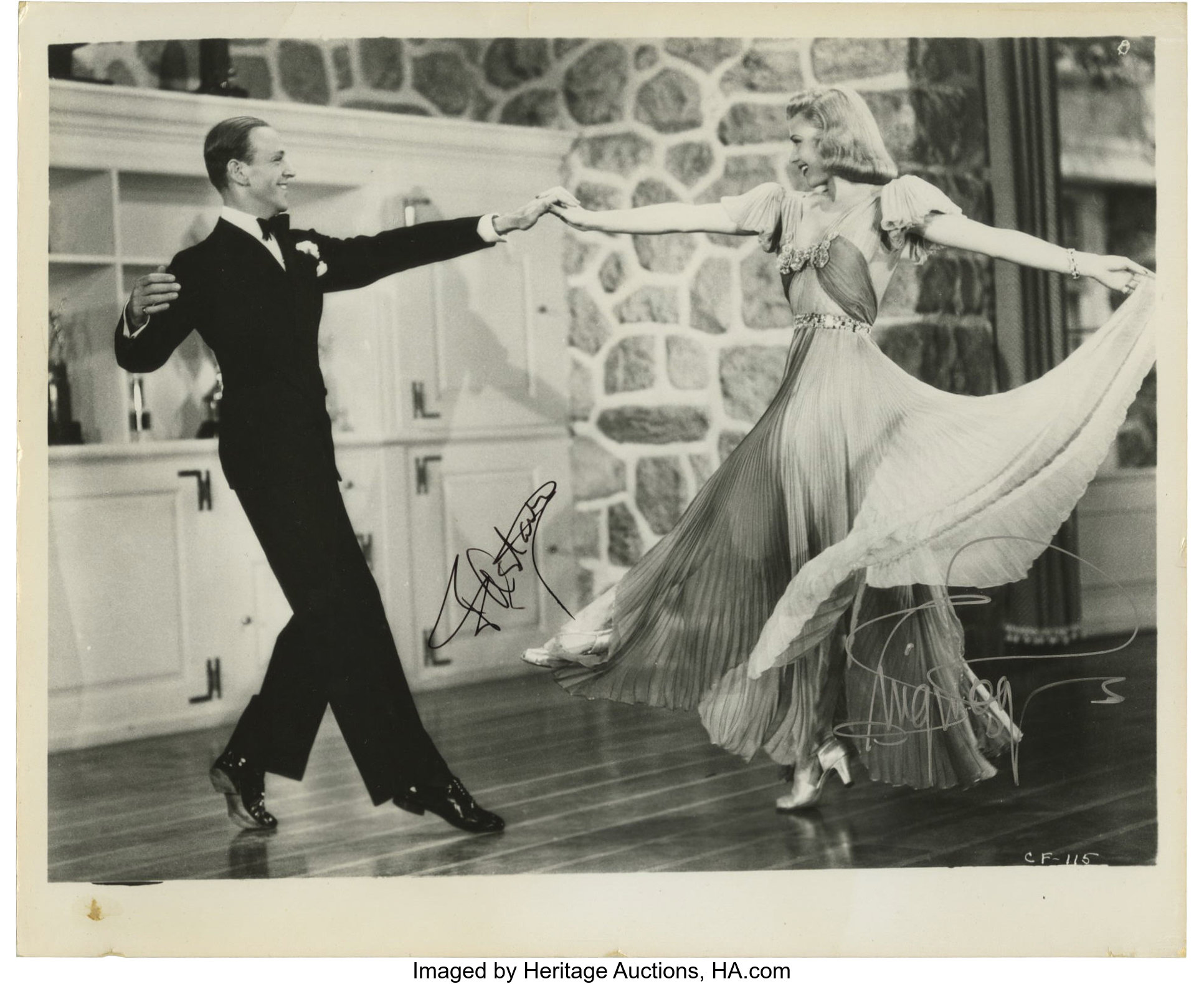 Carefree Fred Astaire And Ginger Rogers Signed Photo Undated Lot 17555 Heritage Auctions