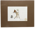 "Animation Art:Seriograph, ""Bambi"" Limited Edition Serigraph Cel with Marc Davis Signature Original Art (Disney, 1995). Bambi and Thumper share the spo..."