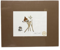 """Bambi"" Limited Edition Serigraph Cel with Marc Davis Signature Original Art (Disney, 1995). Bambi and Thumper..."