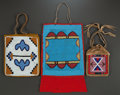 American Indian Art:Beadwork and Quillwork, THREE PLATEAU BEADED HIDE FLAT BAGS. c. 1890, 1900, and 1920...(Total: 3 Items)