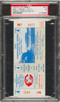 Baseball Collectibles:Tickets, 1972 NLCS Game Four Full Ticket--Roberto Clemente's Final CareerHome Run, PSA EX 5....