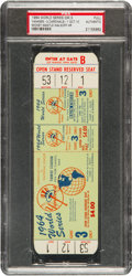 Baseball Collectibles:Tickets, 1964 World Series Game Three Full Ticket PSA Authentic....