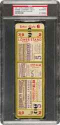 Baseball Collectibles:Tickets, 1941 World Series Game Five Full Ticket....
