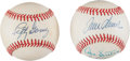 Baseball Collectibles:Balls, Lefty Gomez and Strikeout Kings Signed Baseballs Lot of 2....