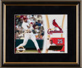 Baseball Collectibles:Photos, Mark McGwire Signed UD Authentics Card Display....