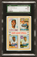 Baseball Cards:Singles (1970-Now), 1974 Topps Hank Aaron Special #5 SGC 92 NM/MT+ 8.5 - Only OneHigher. ...